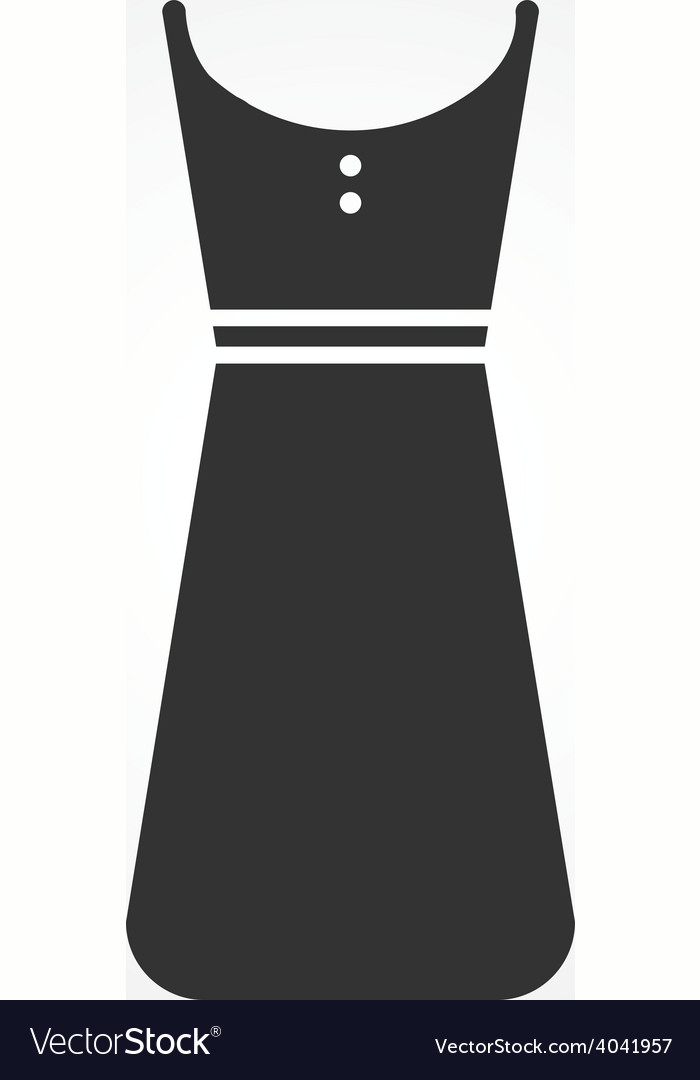 Dress icon flat design