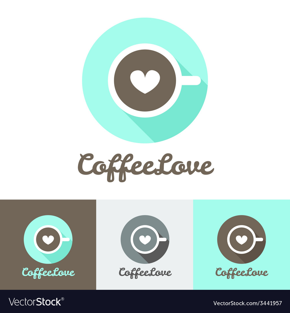 modern flat coffee shop or cafe logo royalty free vector