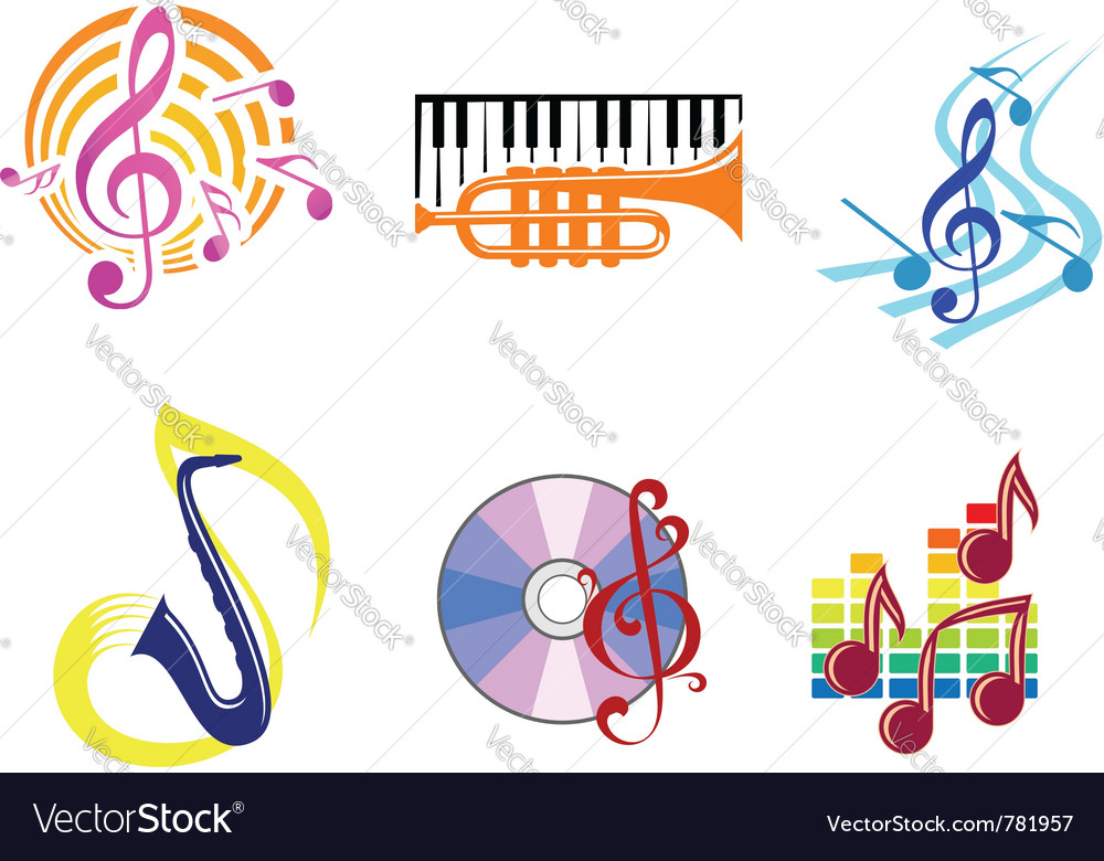 Musical symbols emblems