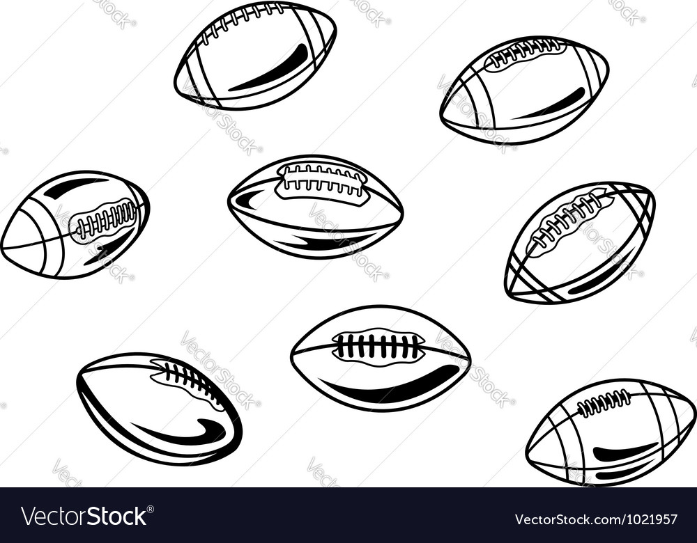 Rugby and american football balls