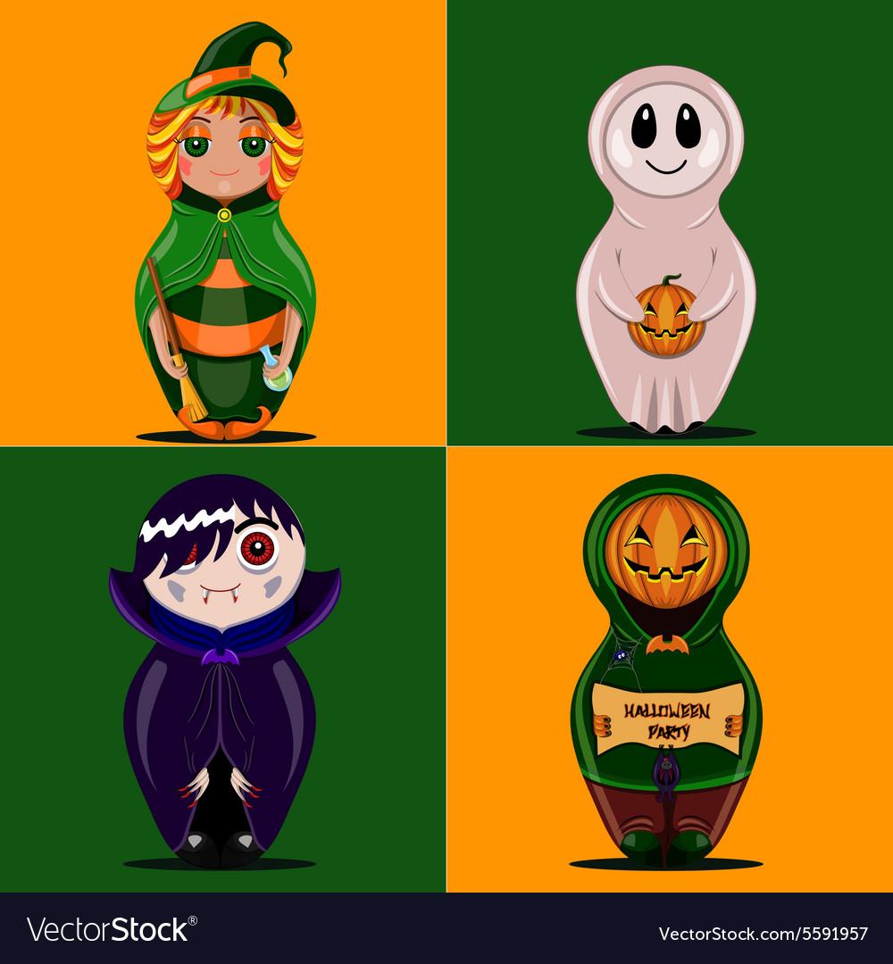 Set of dolls halloween