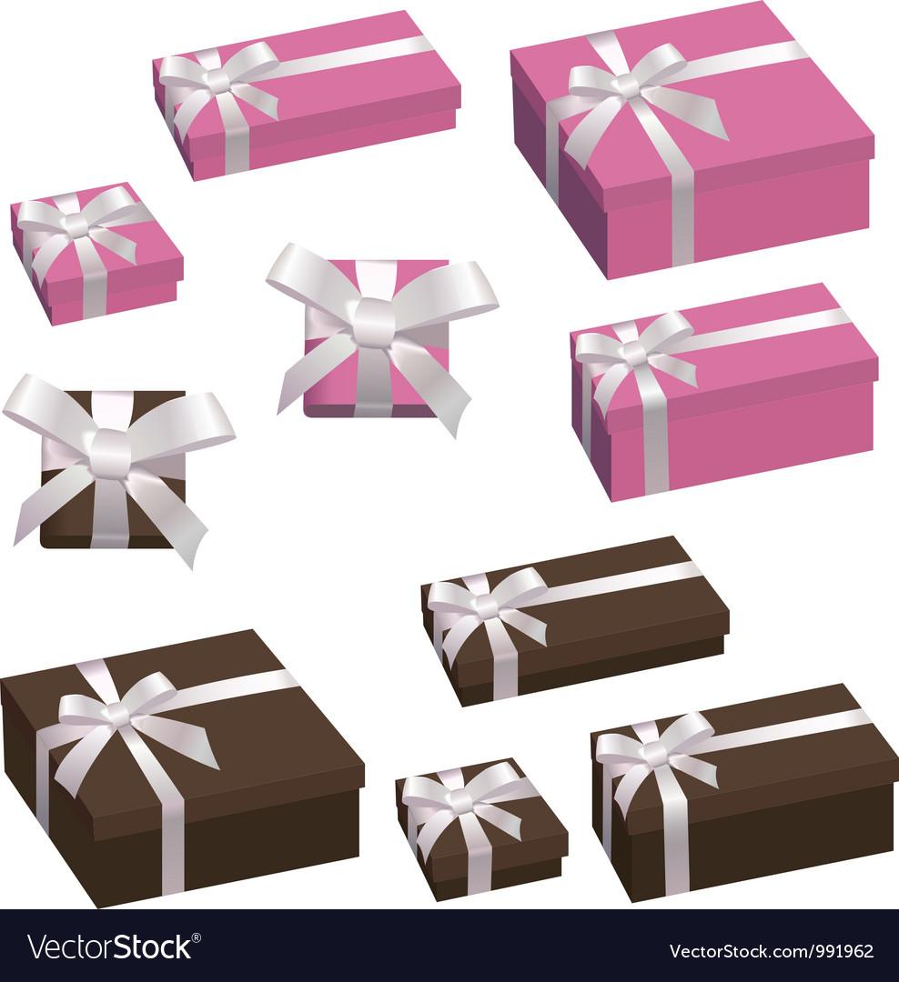 A festive box with a bow vector image