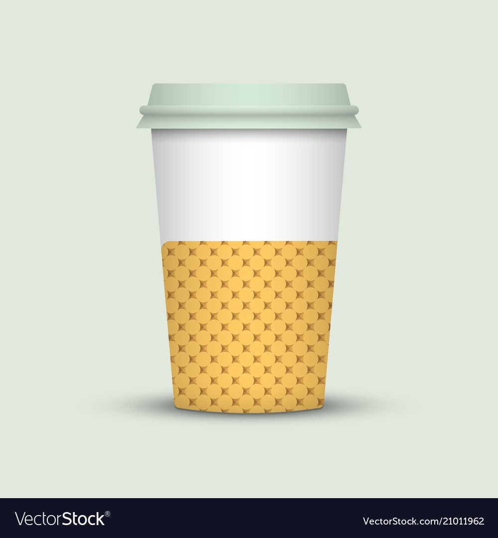 Coffee Cup To Go Creative Template Vector Image
