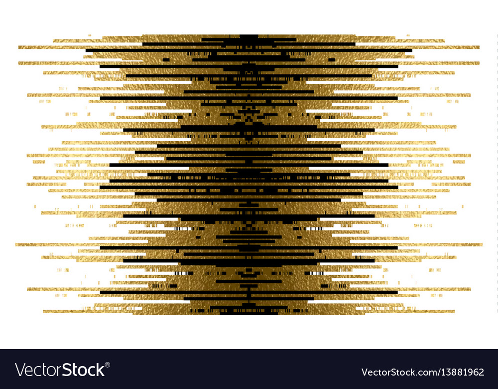 Gold texture and black lines decoration on the