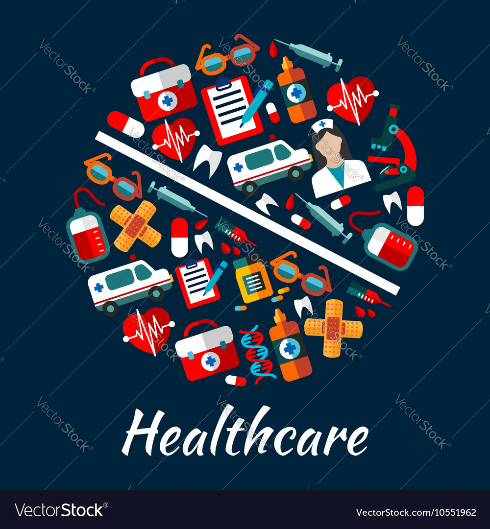 Medical poster background in pill shape vector image