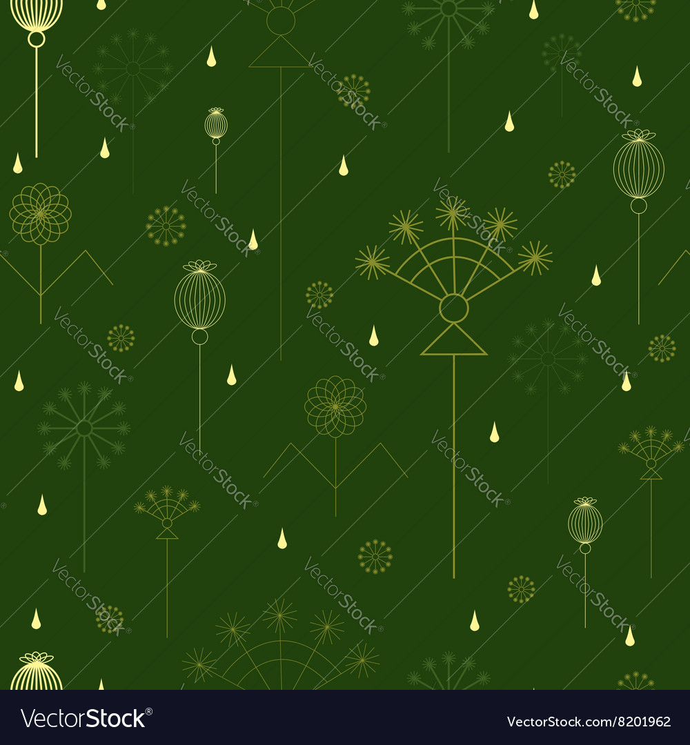 Seamless background with grass vector image
