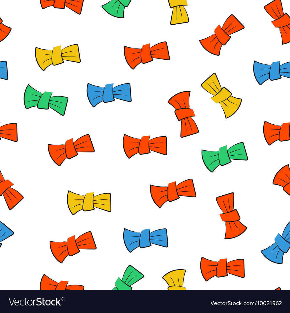 Seamless pattern with bow tie
