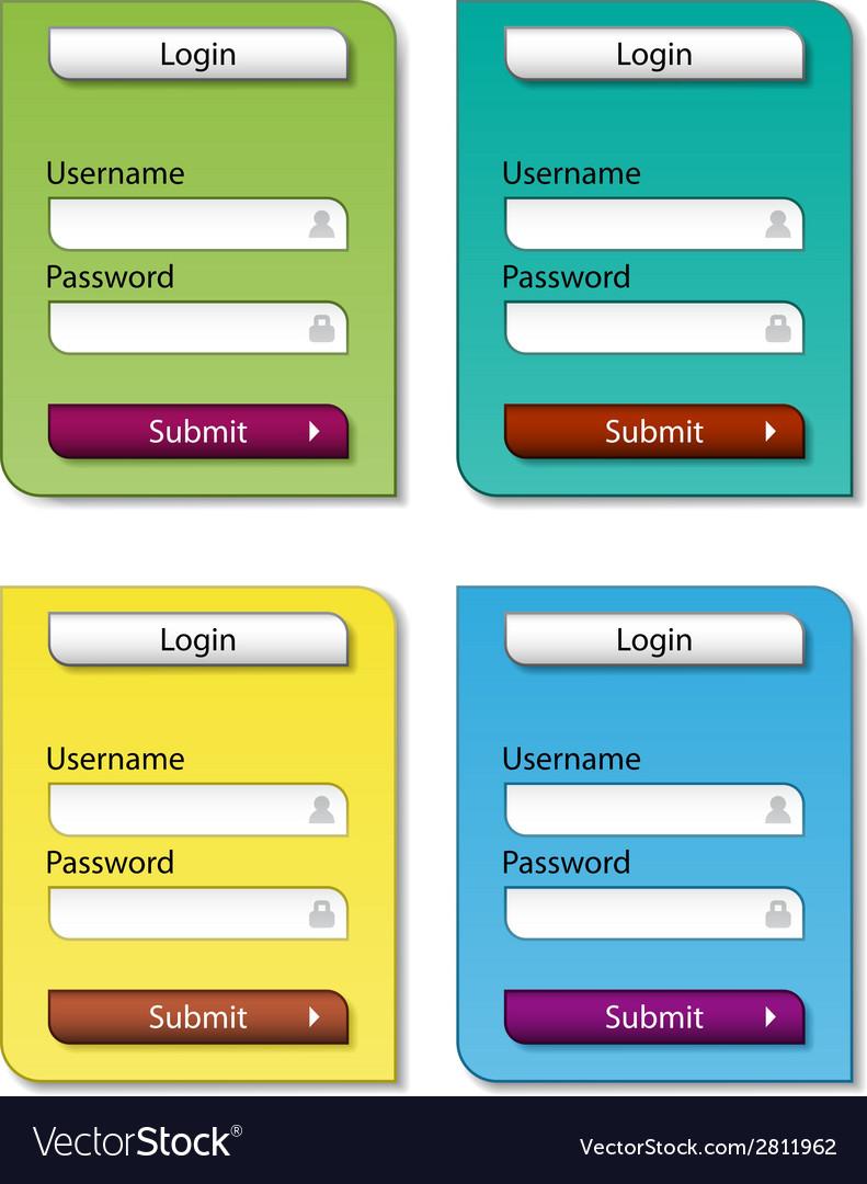 Web form design templates