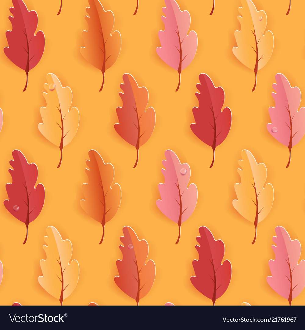 Autumn leaves seamless background fall