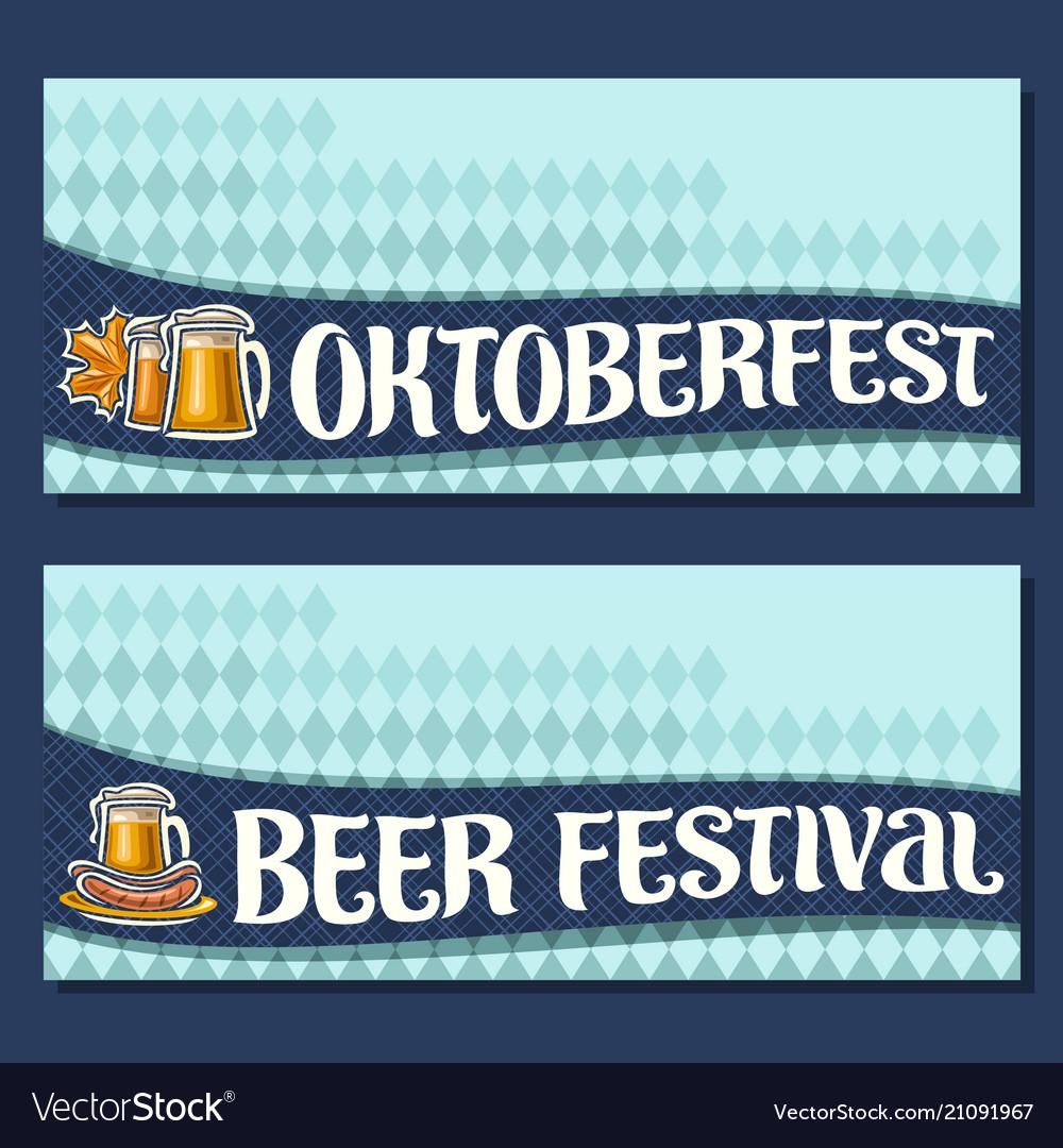 Banners for oktoberfest