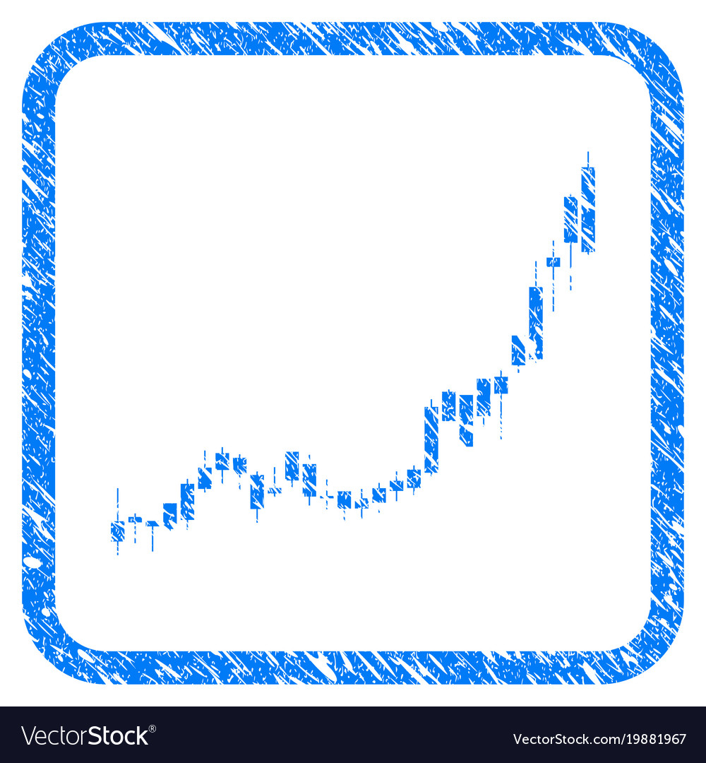 Candlestick chart growth acceleration framed stamp