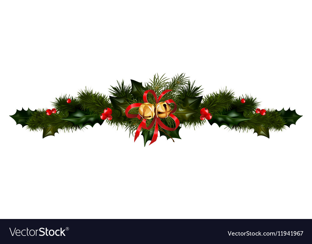Christmas decorations with fir tree