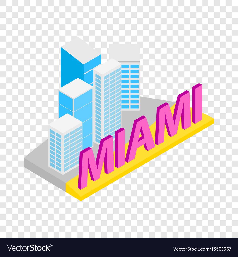 City of miami isometric icon