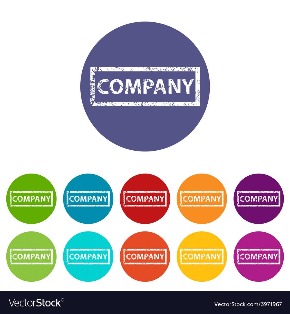 Company flat icon