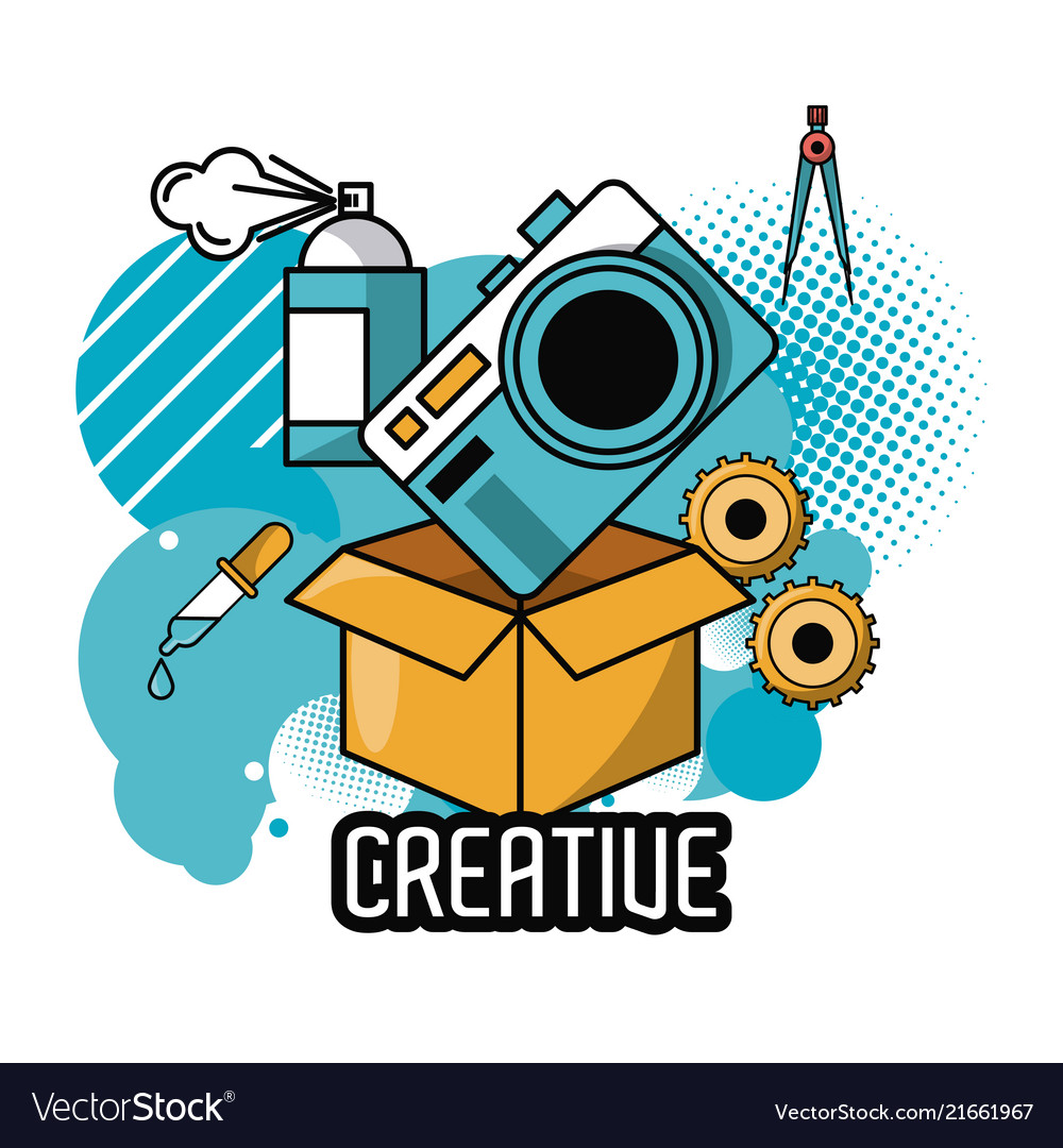 creative ideas and colors royalty free vector image