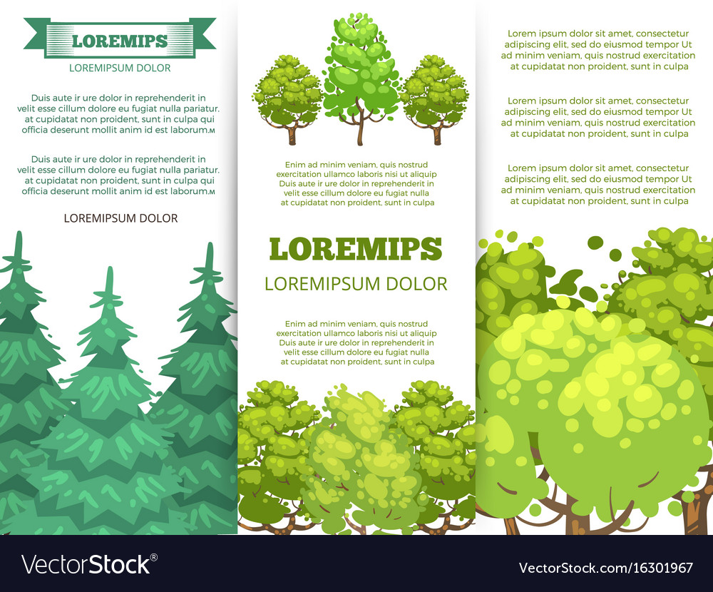 eco banner template forest banners with colorful