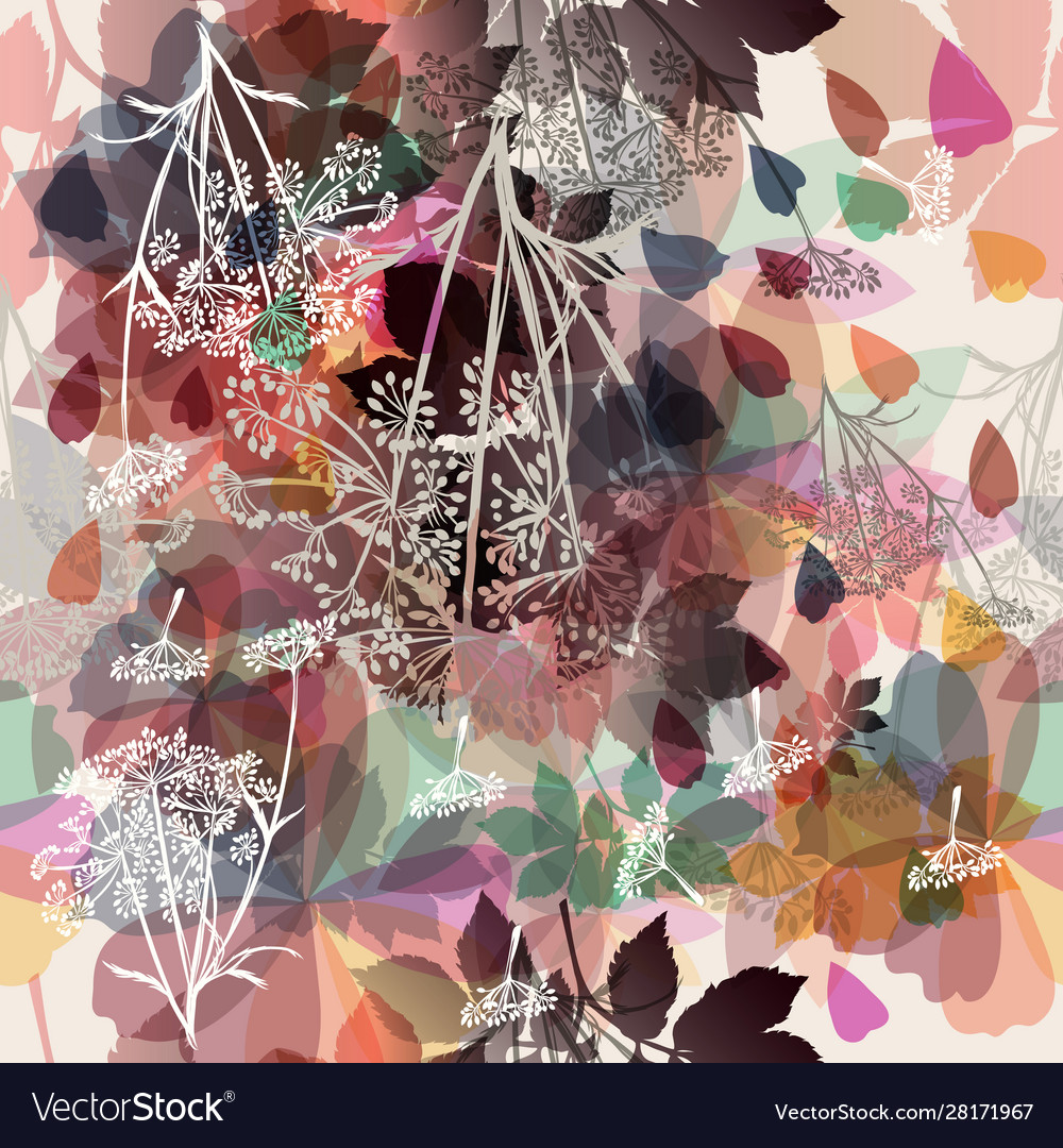 Floral background in bright colors autumn