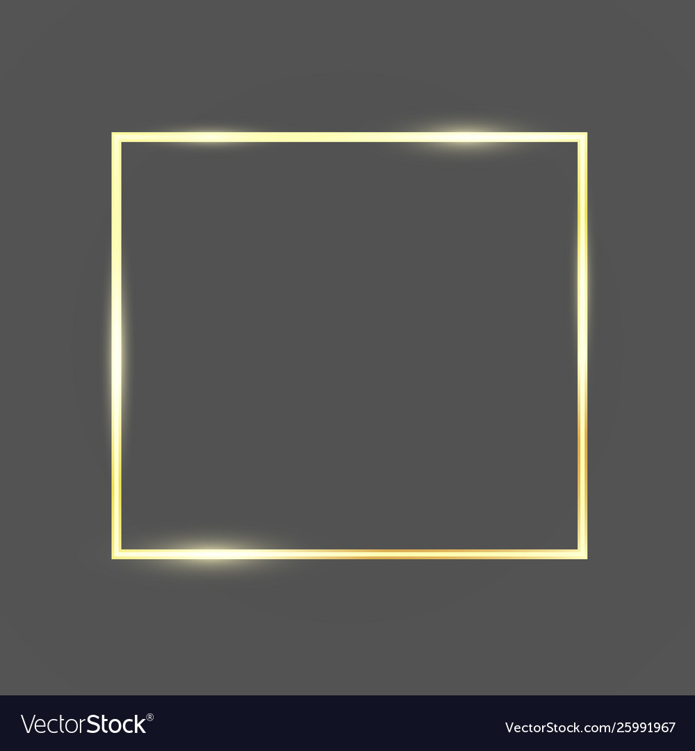 Golden frame template with glitter effect for