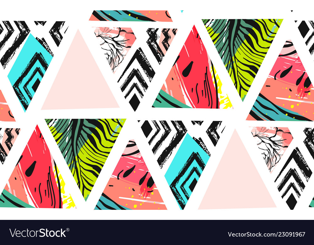 Hand drawn abstract unusual summer time