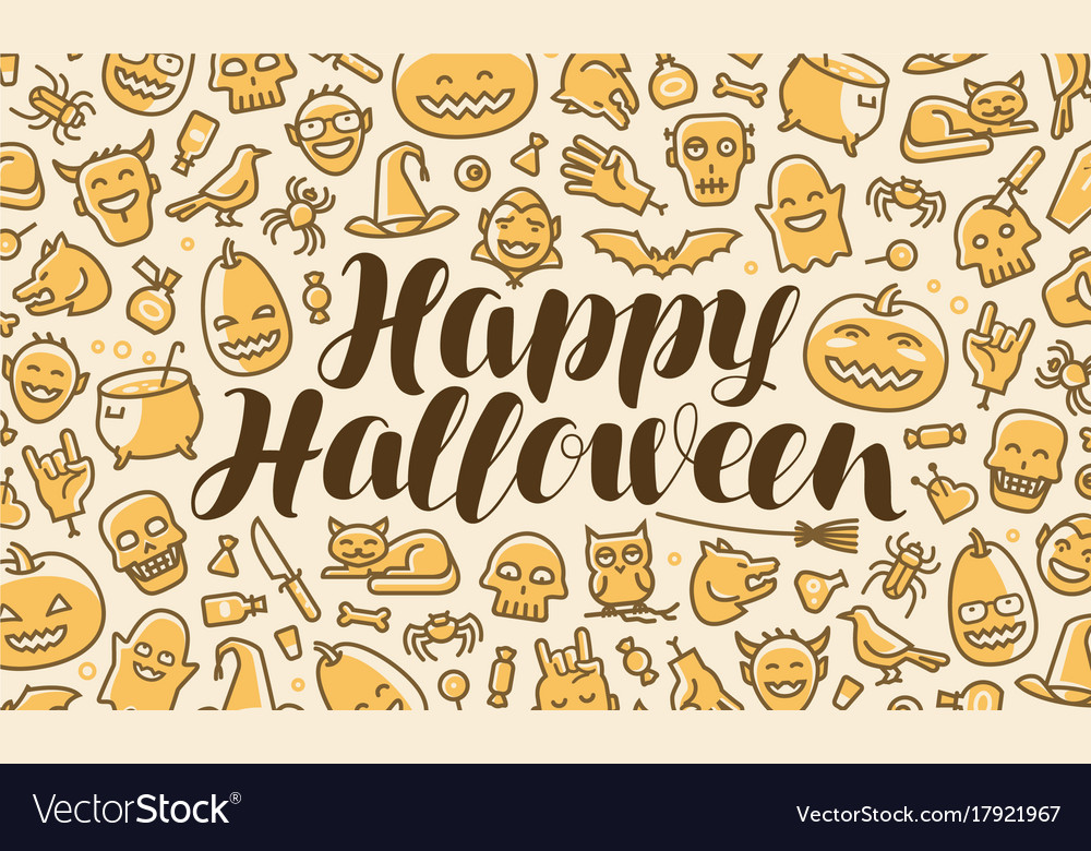 Happy halloween greeting card or banner holiday