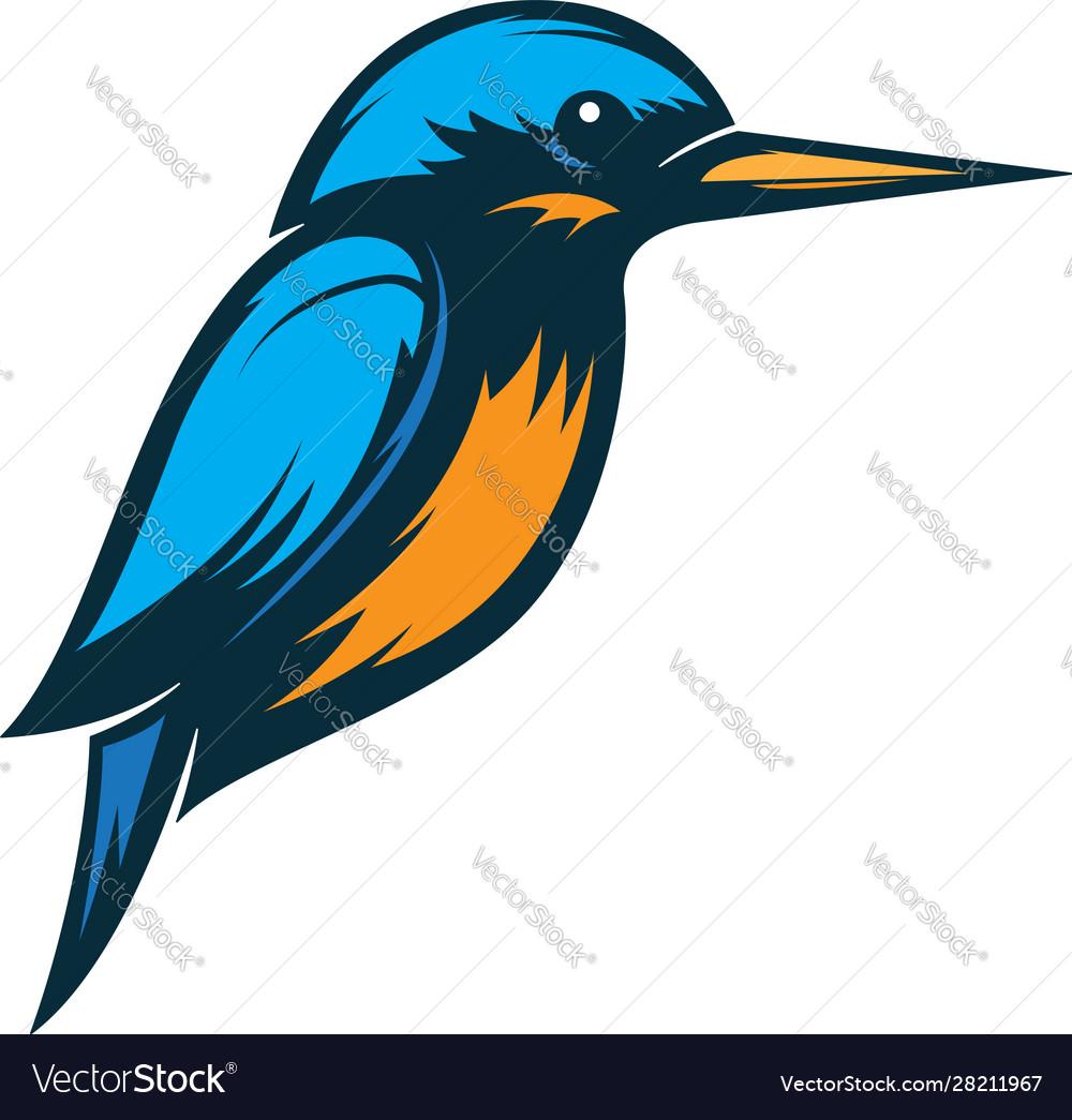 Kingfisher Bird Logo Royalty Free Vector Image