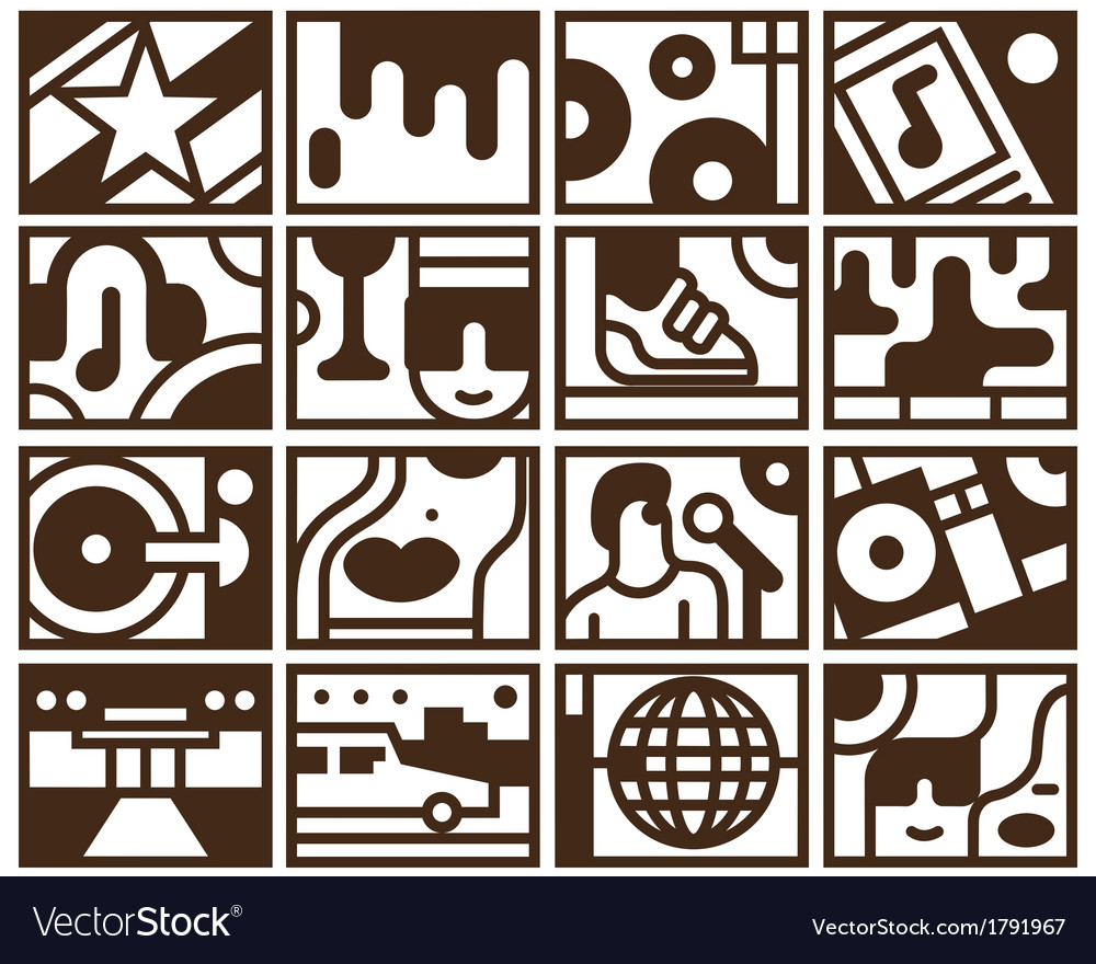 Music- icons vector image