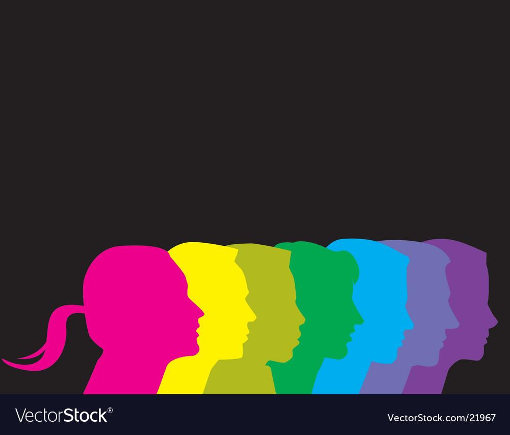 Profiles rainbow vector image