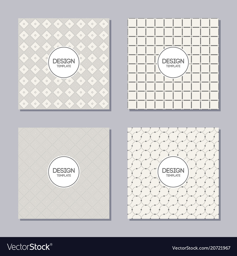 Set of 4 creative covers abstract geometric
