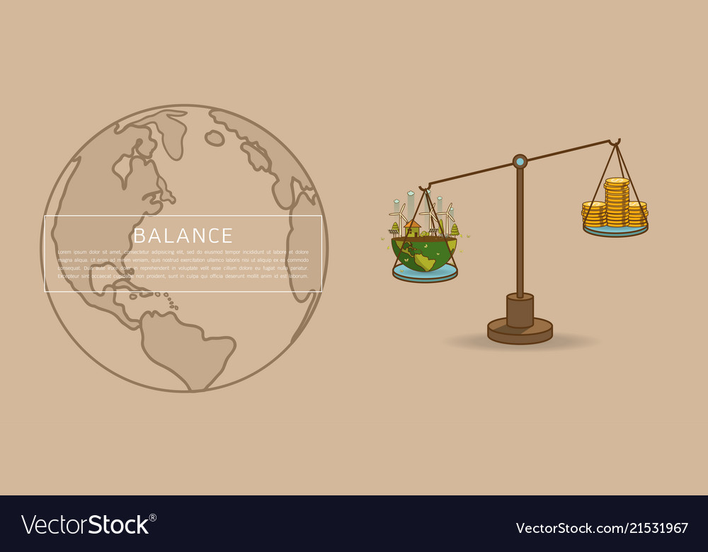 World Globe On A Scale With Gold Dollar Coins