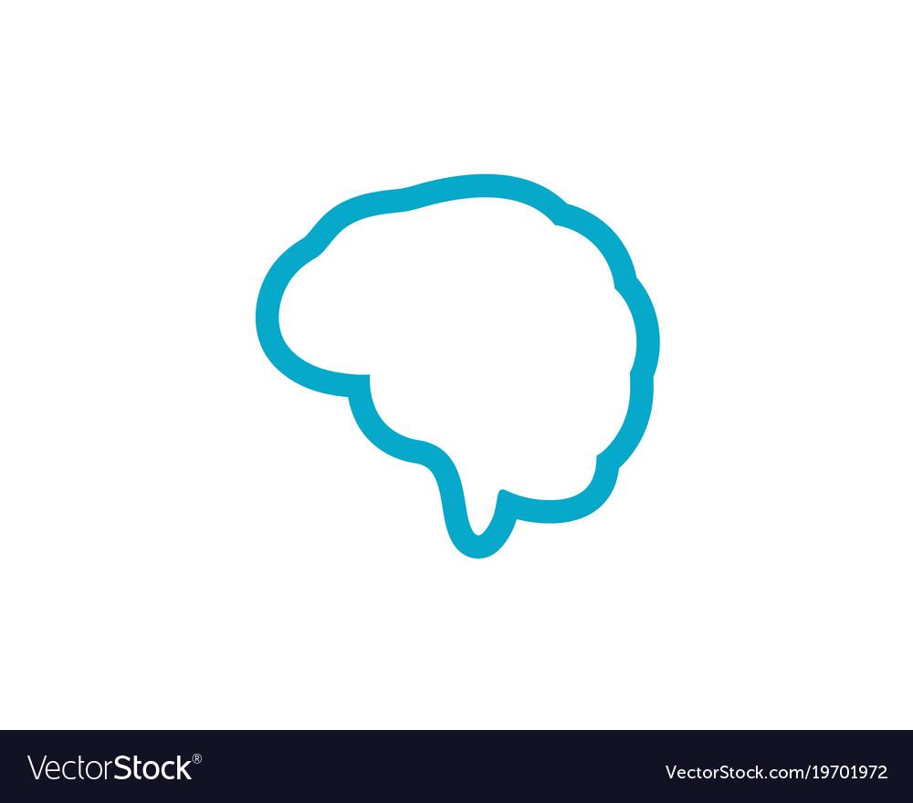 Brain icon template