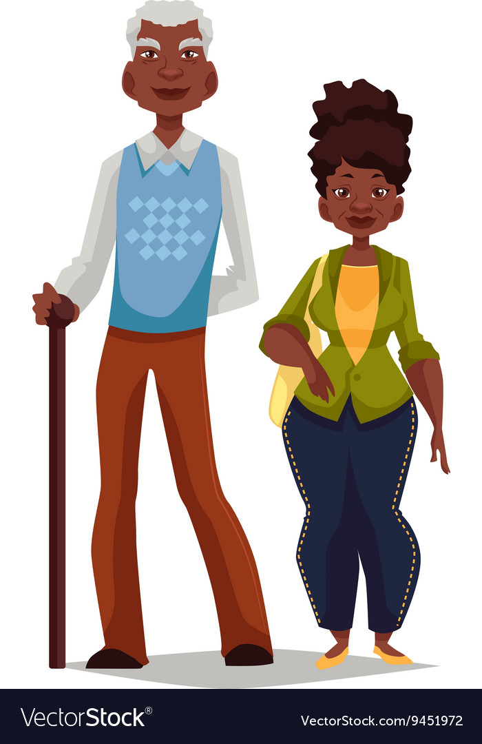 Elderly couple woman and man vector image