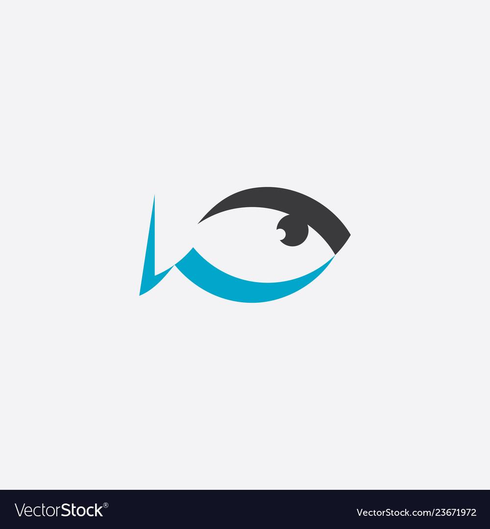 Fat fish logo sign element