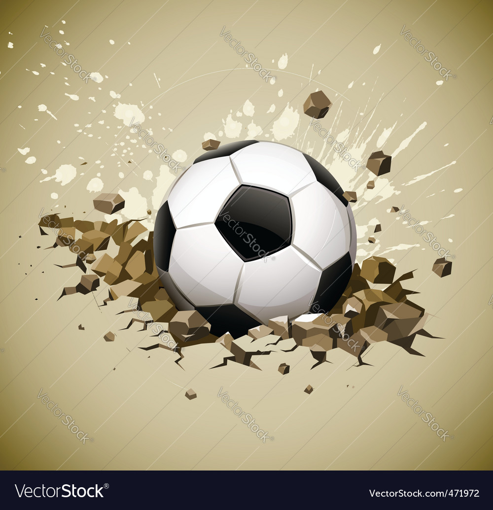 Grunge football soccer ball