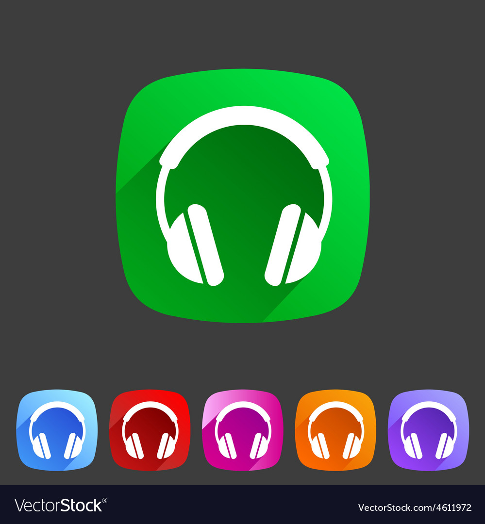 Headphone dj icon sign symbol logo label vector image