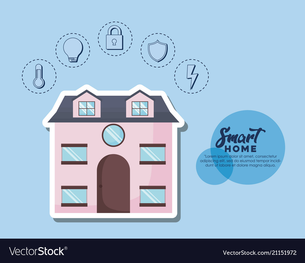 Smart Home Design Royalty Free Vector Image Vectorstock Electricityhouse Electrical Wiring House