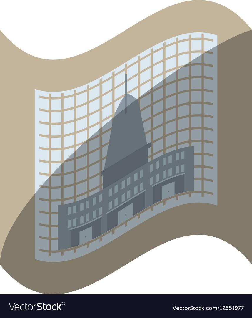Architecture plans building structure shadow