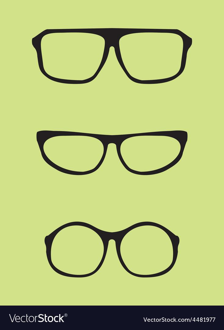 Black nerd secretary or teacher glasses vector image