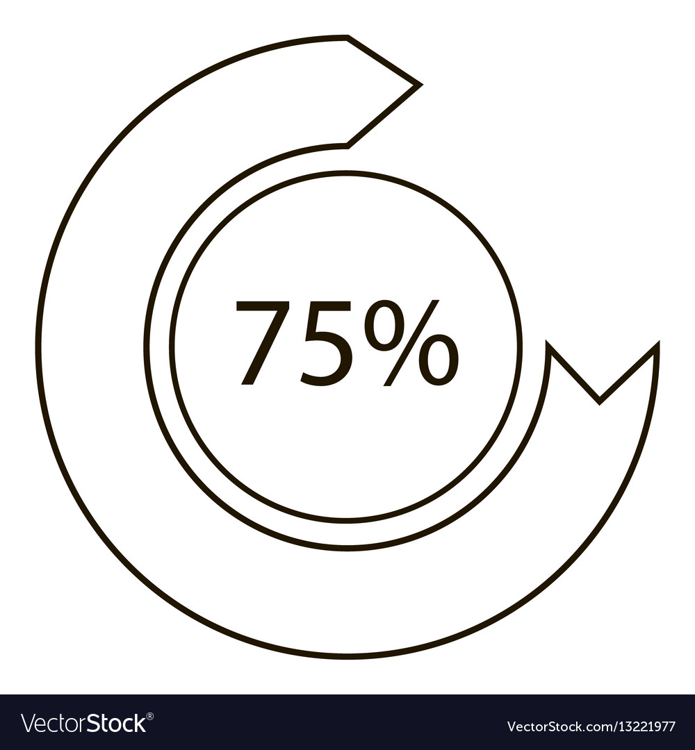Drawing diagram infographics outline style vector image