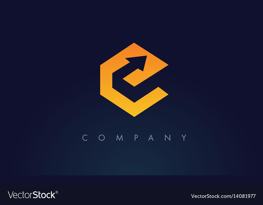 E logoe letter icon design vector image
