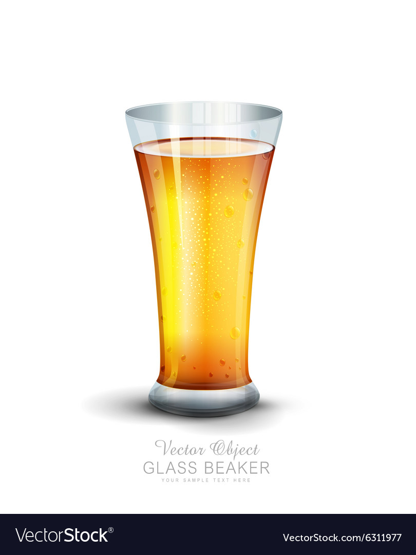 Glass with drink on the white background