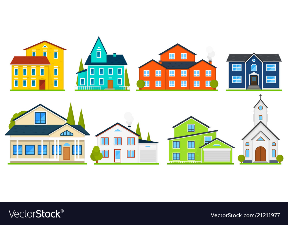 Little cute house or apartments family american