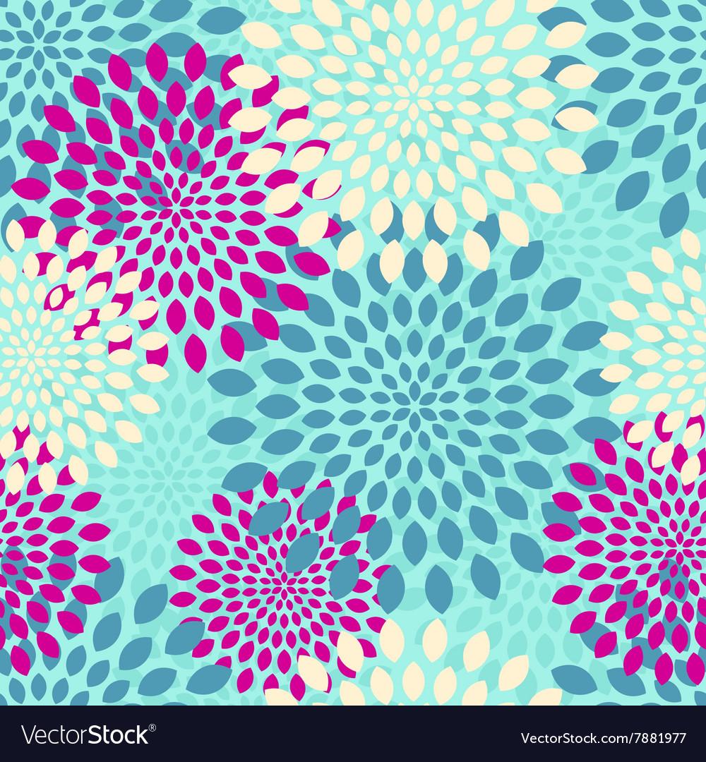 Modern seamless flowers pattern background