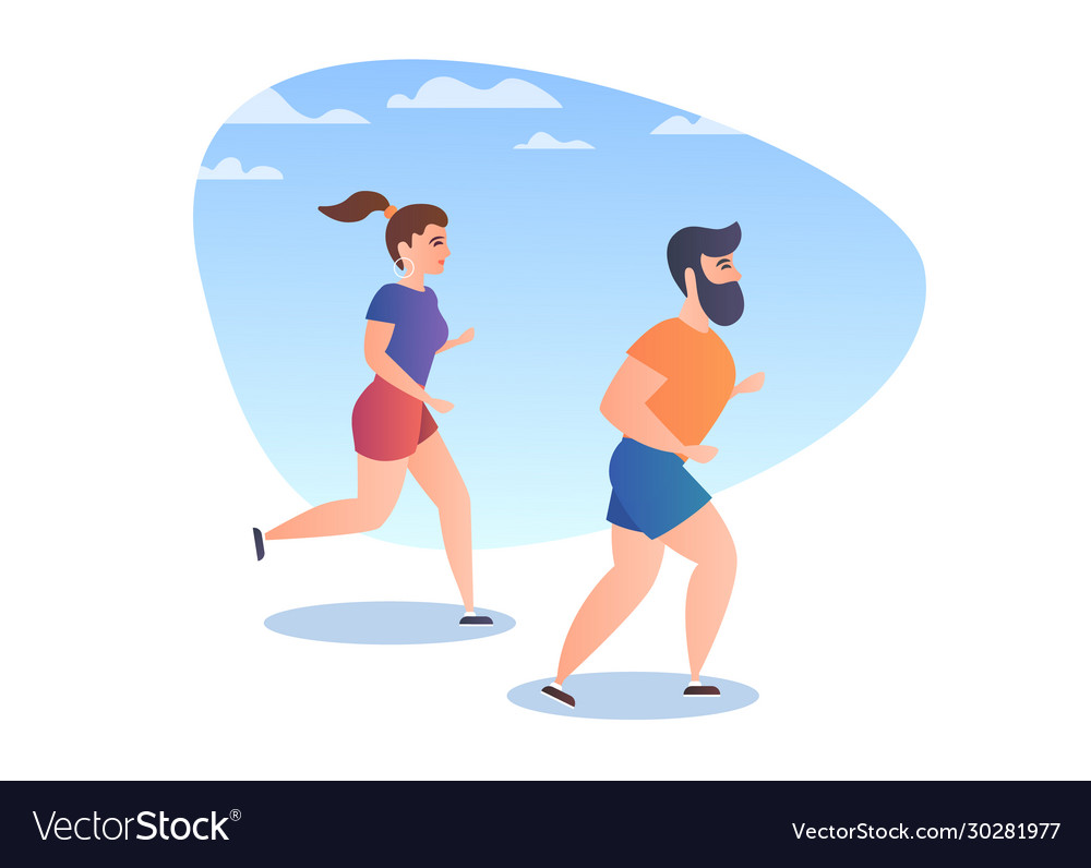 People while running
