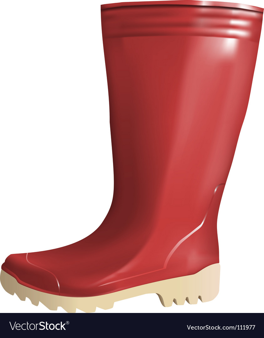 Rubber boot vector image