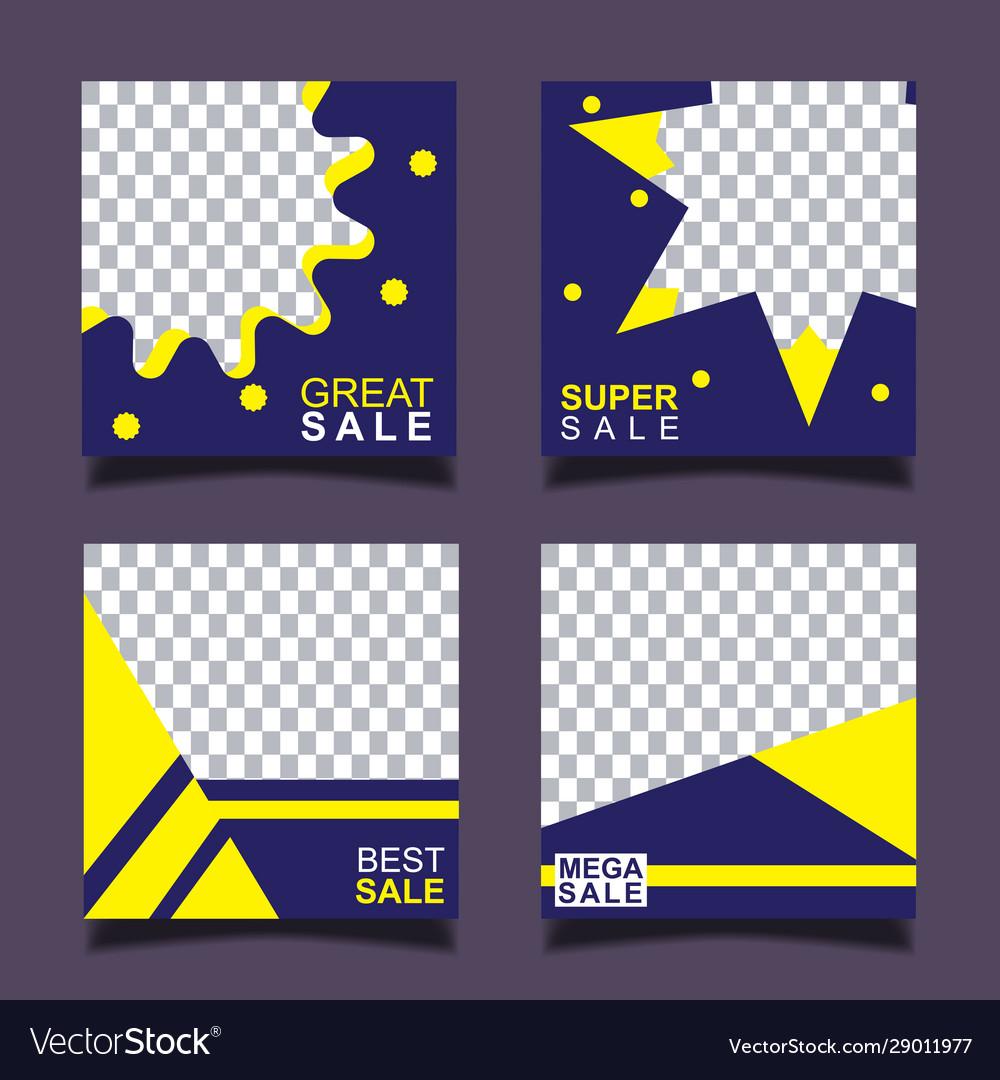 Set sale banner template design