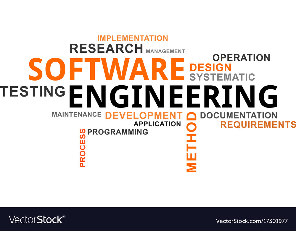 Word Cloud Software Engineering Royalty Free Vector Image
