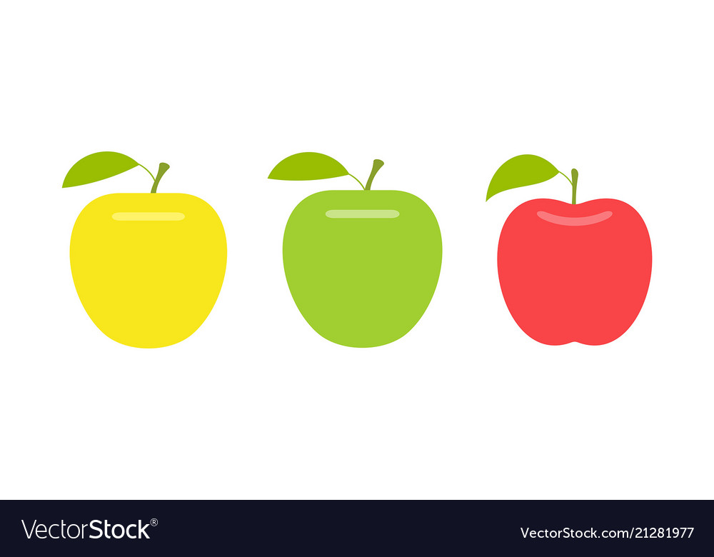 Yellow green and red apple