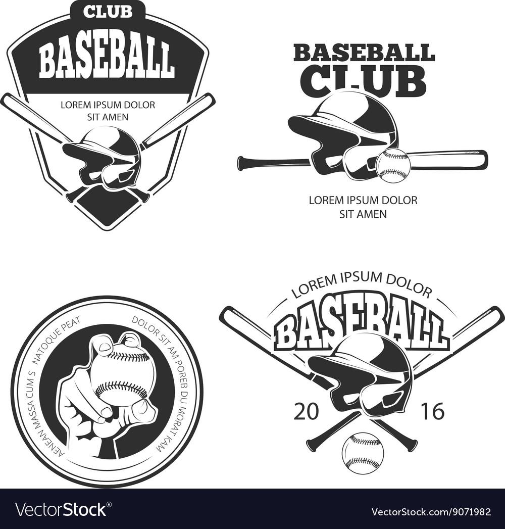 Baseball vintage emblems labels badges