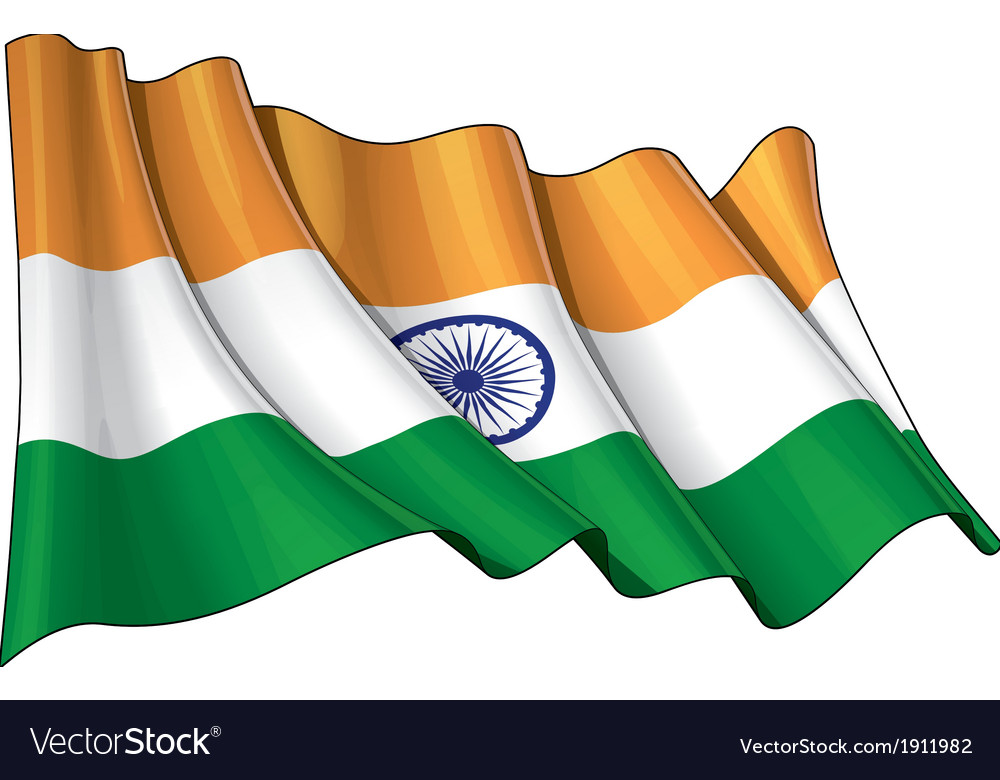 India Flag Grunge vector image