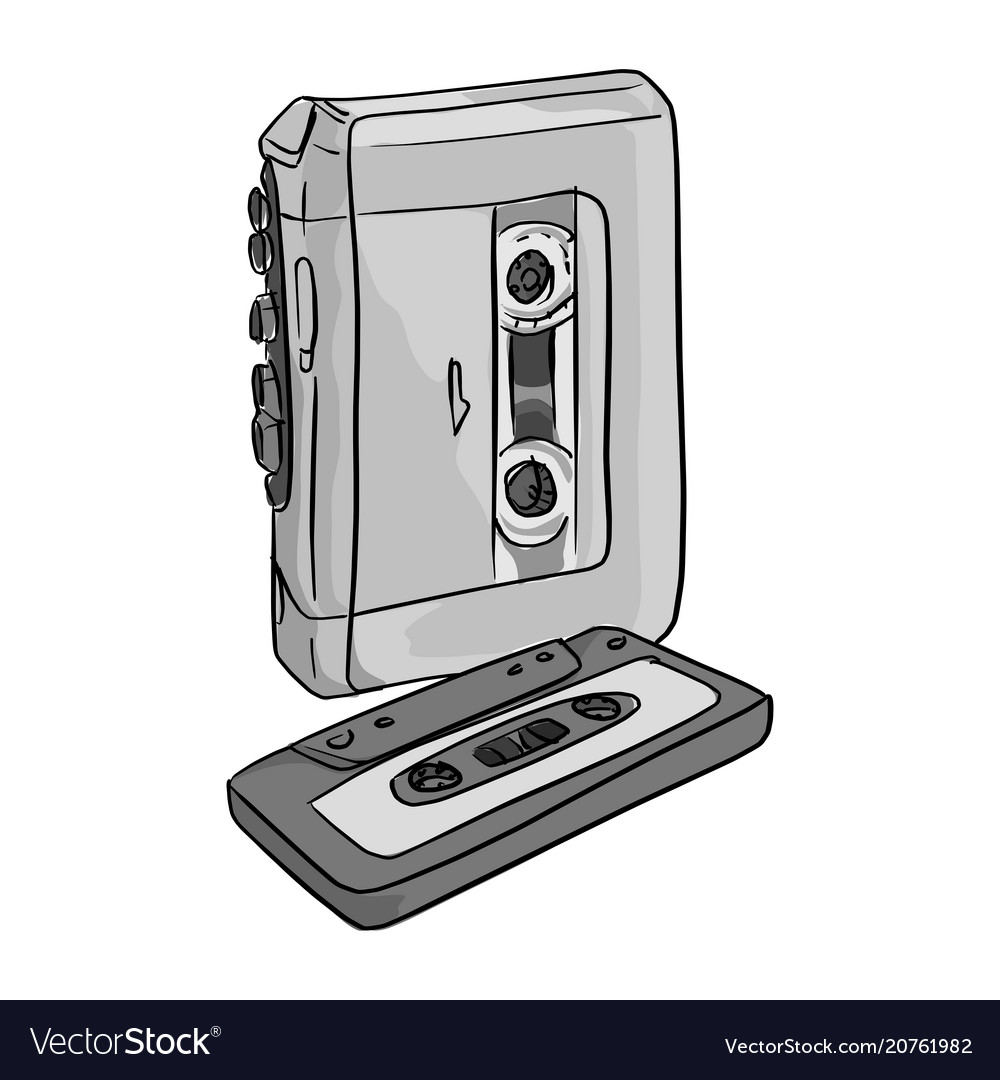 Portable audio player and cassette tape